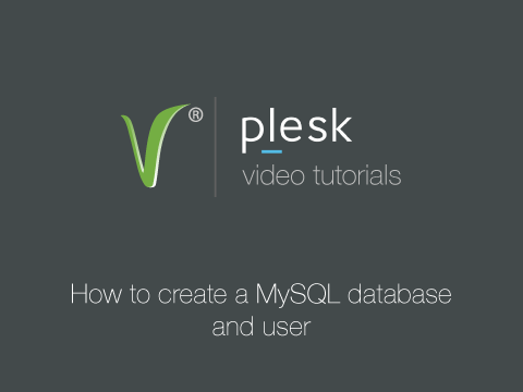 How to create mysql database and user