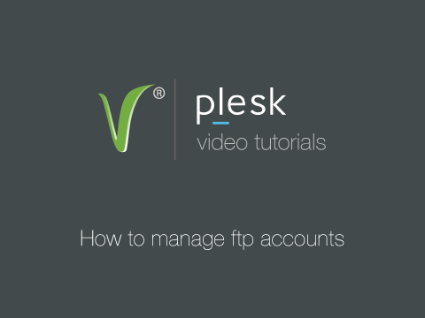 How to manage ftp accounts
